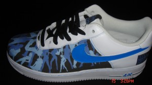 CUSTOM - DJ Nasty Naz Air Force Ones - Side Profile