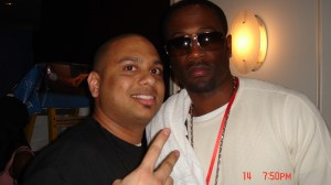 Dj Nasty with Q from R&B group 112 in New Orleans