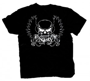 DJ Nasty Naz guy tee - BIG SKULL