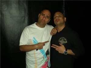 Dj Nasty & Super Comedian Russell Peters backstage
